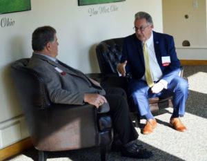 George Wilson and Dr. Jim Pelt, former Starr Alumni Association Presidents
